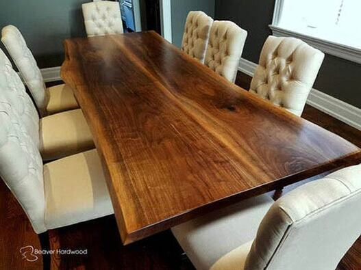 Live Edge Black Walnut Bookmatched Table