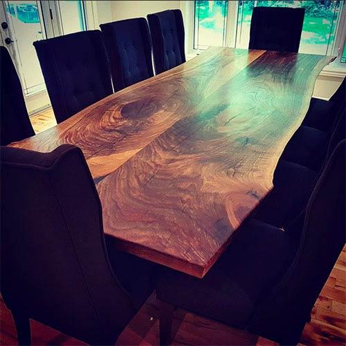 large black walnut live edge table