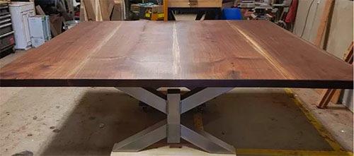 custom black walnut square table