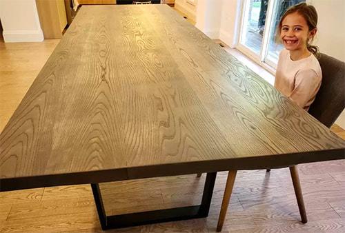 custom white ash dining table