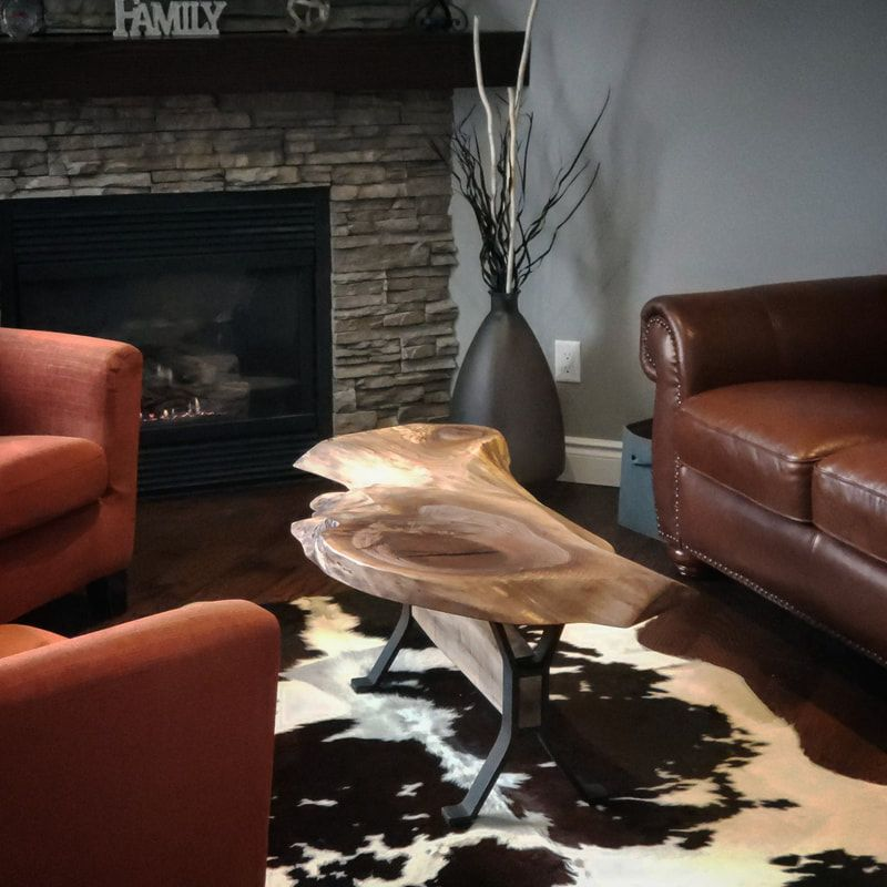 Unique Live Edge Black Walnut Coffee Table (click photo to zoom)